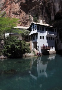 Another view of Blagaj Tekija from across the Buna River.