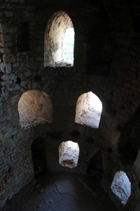 Inside the tower in Počitelj Fortress.