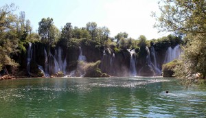 Kravice Falls, a waterfall on the Trebižat River.