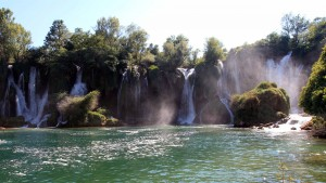 Another view of Kravice Falls.