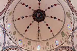 The domed ceiling in Koski Mehmed-Pasha's Mosque.