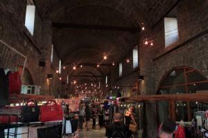 Inside Gazi-Husrev Beg Bezistan (a covered bazaar in Sarajevo).