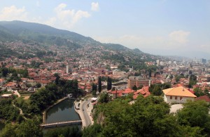 View of Sarajevo from the Yellow Bastion.