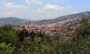 View of Sarajevo on the hike up to the White Fortress.