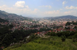 View of Sarajevo from the White Fortress.