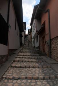 Narrow pathway found in Sarajevo.