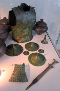 Goods found in a grave dated to the 7th-century BC.