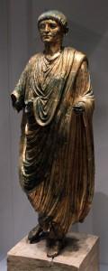 2nd-century AD gilded bronze statue from Emona (present-day Ljubljana).