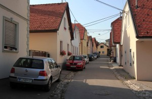 Street in the Krakova neighborhood in Ljubljana.