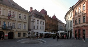 Fountain in the square where Gornji and Stari streets meet.