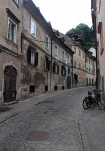Studentovska Street, leading up to the trail to Ljubljana Castle.