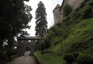 The entrance to Bled Castle - the original castle dates back to at least the 11th-century AD.