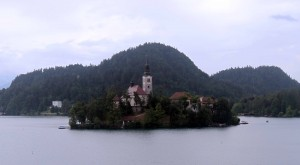View of Bled Island with the Church of the Assumption.