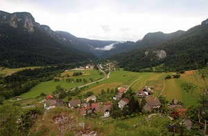 View of the Sava Bohinjka River Valley.