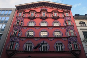 Facade of another building in Ljubljana.