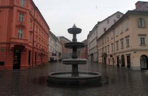 Fountain in New Square.