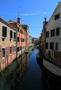 One of many canals in Venice.