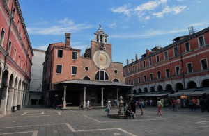 San Giacomo di Rialto - the oldest church in Venice, supposedly consecrated in the year 421 AD.