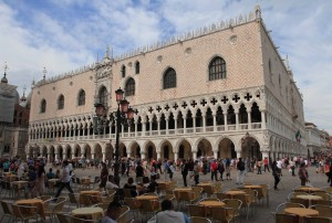 The Doge's Palace, seen from the Piazza San Marco.