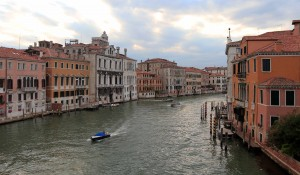 The Grand Canal seen from the Ponte dell'Accademia (one of the other four bridges that spans the Grand Canal).