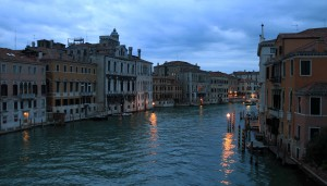 The Grand Canal at twilight.