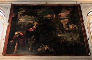 'The Flight in to Egypt' by Tintoretto (1582-1587 AD) - inside the Scuola Grande di San Rocco.