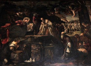 'Adoration of the Magi' by Tintoretto (1582 AD).
