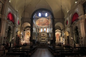 "The interior of the Church of Saint Roch (""Chiesa di San Rocco"")."