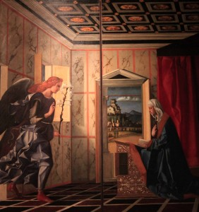 'The Annunciation' by Giovanni Bellini (1500 AD).