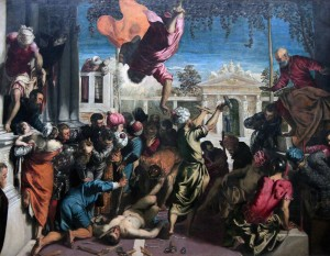 "'The Miracle of the Slave' (also known as ""The Miracle of St. Mark"") by Tintoretto (1548 AD)."