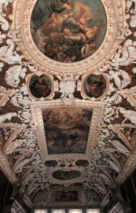 The ceiling in the Sala delle Quattro Porte (the formal antechamber to more important rooms in the palace).