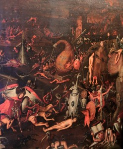 Detail of 'Inferno' by Herri met de Bles (looks like he drew inspiration from Hieronymus Bosch).