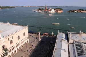 San Giorgio Island and the Piazza San Marco, seen from the Campanile.