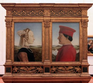 'Portraits of the Duke and Duchess of Urbino' by Piero Della Francesca (ca. 1472-1475 AD).