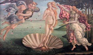 'The Birth of Venus' by Sandro Botticelli (ca. 1484-1486 AD).