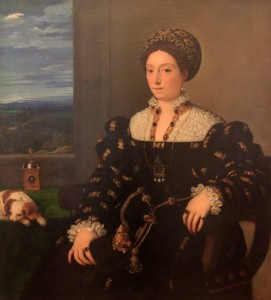 'Portrait of Eleonora Gonzaga' by Titian (1536/1537 AD).