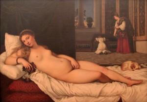'Venus of Urbino' by Titian (1538 AD).