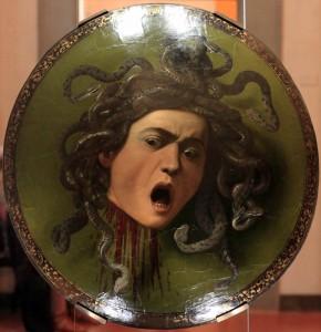 'Testa di Medusa' by Caravaggio (1597 AD).