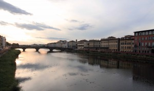 The Arno River and the Ponte alla Carraia.