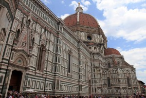 The southern side of the Florence Cathedral.