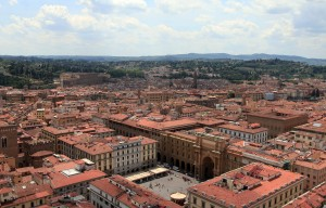 Looking southwest from Giotto's Bell Tower, with the Piazza della Repubblica in view.