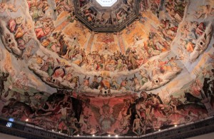 Another view of the frescoes adorning the interior of the dome.