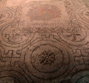 Floor mosaic from Santa Reparata (the former cathedral in Florence that was erected in the 5th-century AD; the remains are underneath the Florence Cathedral).