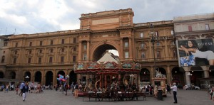 The Piazza della Repubblica.