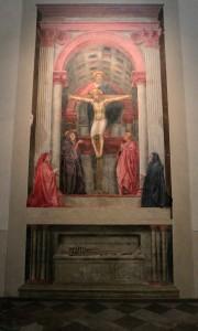 'Holy Trinity' by Tommaso Guidi detto Masaccio (1424/1425 AD).