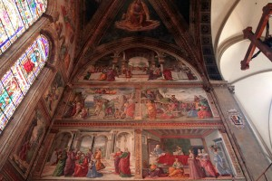 'Scenes from the Life of St. John the Baptist' by Domenico Ghirlandaio (on the right side of the Tornabuoni Chapel).