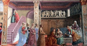 'The Birth of Mary' from the 'Scenes From the Life of the Virgin' by Domenico Ghirlandaio.