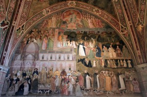 'Allegory of the Active and Triumphant Church and of the Dominican Order' by Andrea di Bonaiuto (1365-1367 AD) - inside the Spanish Chapel.