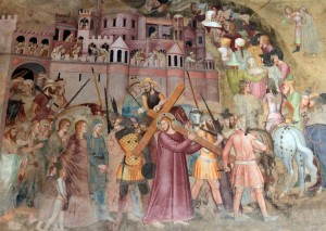 'The Road to Calvary' from 'Scenes From the Passion' by Andrea di Bonaiuto (1365-1367 AD) - inside the Spanish Chapel.