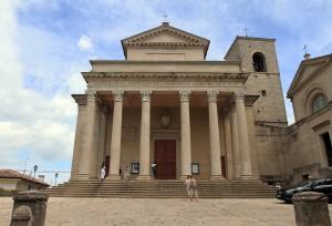 The Basilica di San Marino, a Catholic Church dedicated to Saint Marinus.